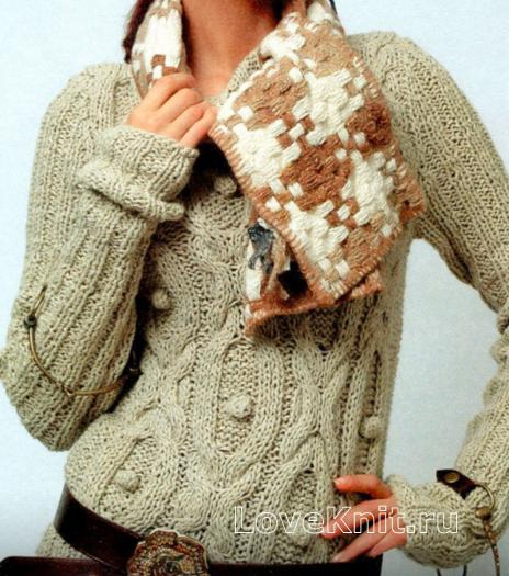 Как связать спицами удлиненный свитер