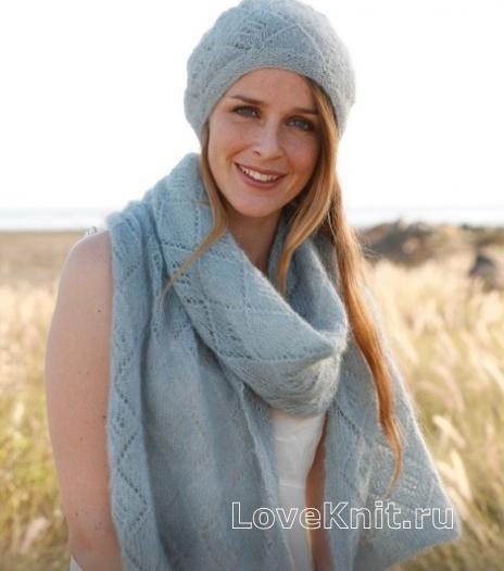 Как связать спицами комплект берет и длинный шарф