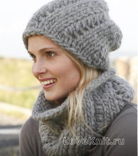 Вязание как связать шарф хомут 264
