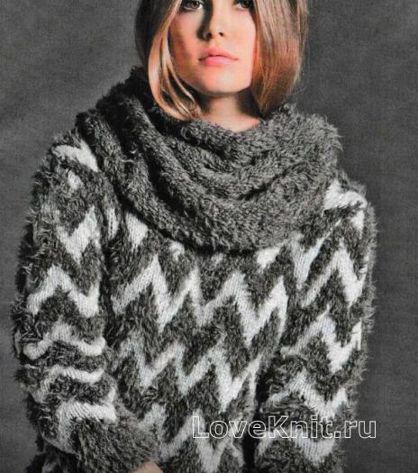 Как связать спицами простой шарф-снуд