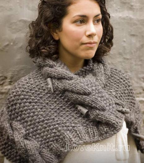 Схема вязания объемного шарфа спицами фото 93