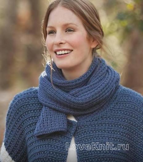 Как связать спицами шарф платочной вязки