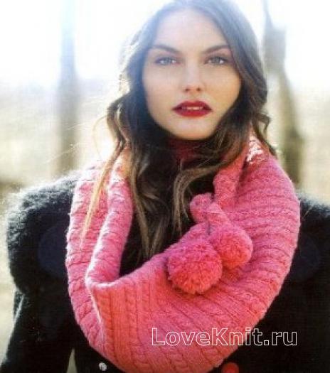 широкий шарф как носить