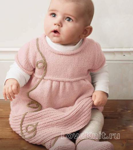 Как связать спицами пинетки для ребенка платочной вязкой
