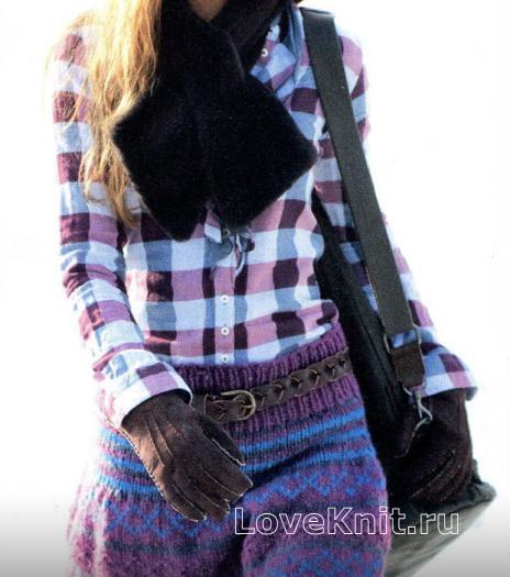 Как связать спицами молодежная мини-юбка