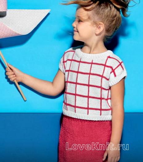 Вязаный комплект спицами для девочки