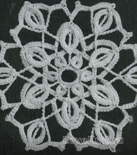 Фото узор круглые мотивы №1480 крючком