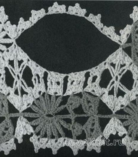 Фото узор ажурные полотна №1429 крючком