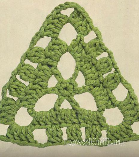 Фото узор треугольный мотив №1590 крючком