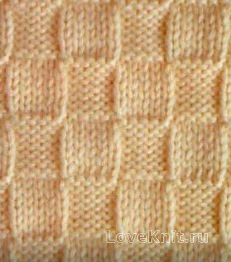 Фото узор платочная вязка №4005 крючком