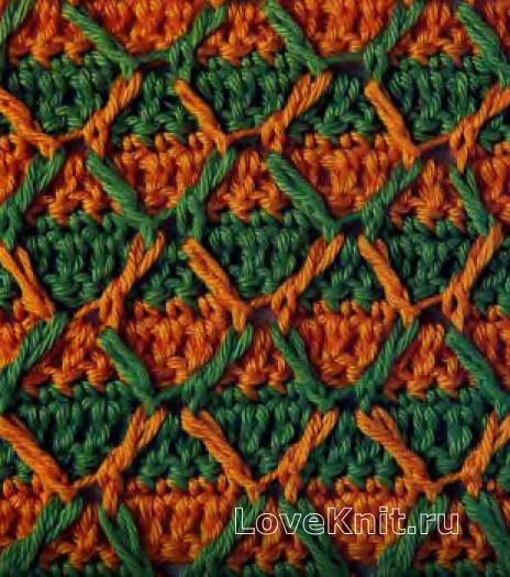 Фото цветной узор №4139 крючком