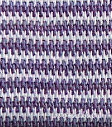Фото двухцветный узор в полоску №4262 крючком