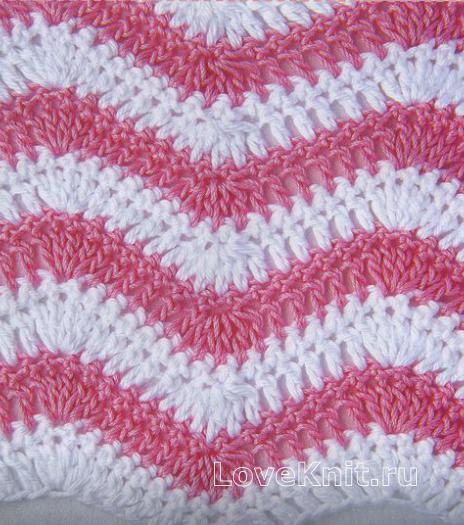 Фото узор цветные зигзаги №1260 крючком