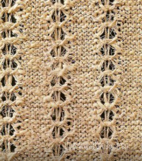Фото узор ажурный №1635 спицами