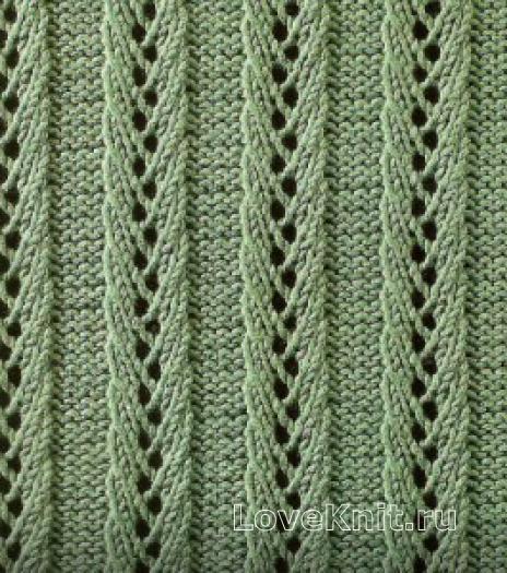 Фото узор ажурный №1649 спицами