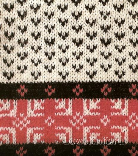Фото узор цветной (жаккардовый) №1752 спицами
