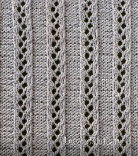 Фото узор ажурный №1770 спицами