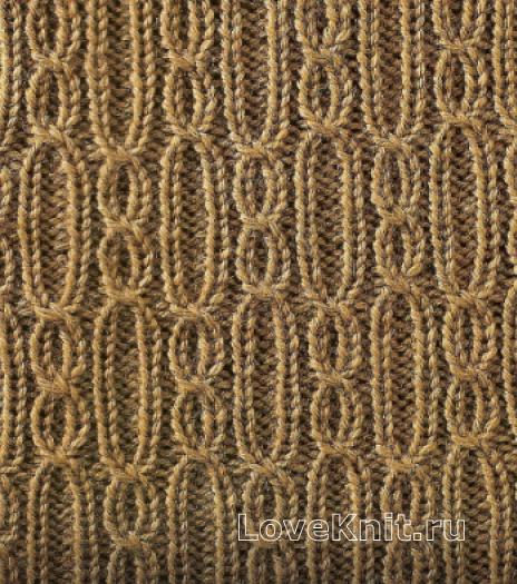 Фото узор из кос (жгутов)№1775 спицами