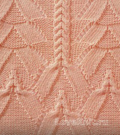 Фото узор рельефный №1808 спицами