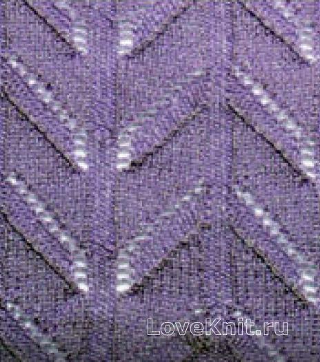 Фото узор ажурные дорожки №2582 спицами