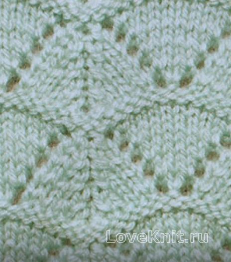 Фото ажурный узор №3560 спицами