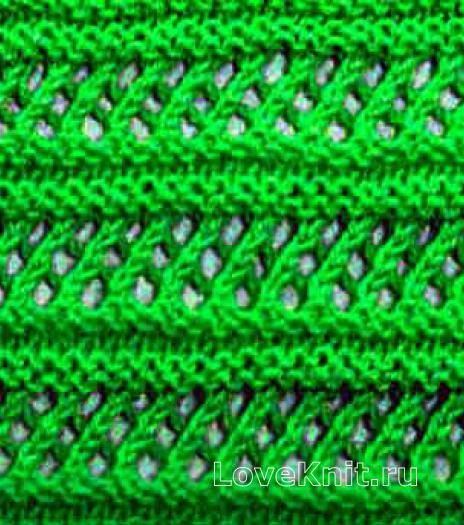 Фото ажурный узор №3654 спицами