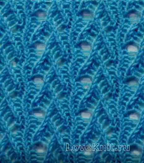 Шарф спицами. Более 50 схем вязание шарфа спицами 35