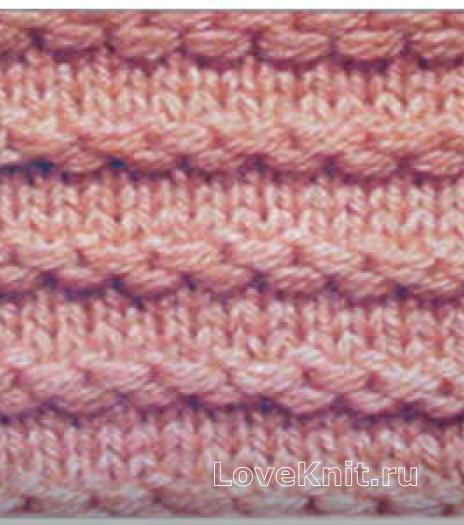 Фото узор платочная вязка №3684 спицами
