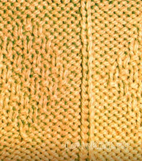 Фото узор из ромбов №3710 спицами