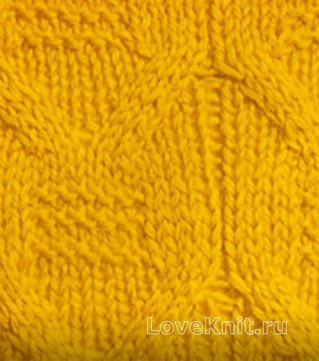 Фото плотный узор №3722 спицами