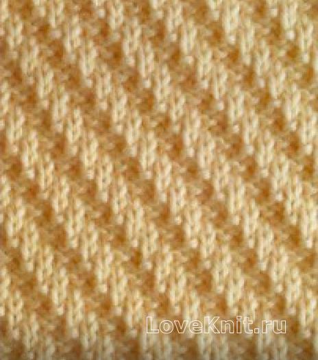 Фото узор изнаночная гладь №3984 спицами