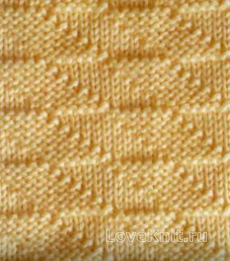 Фото рельефный узор №3994 спицами