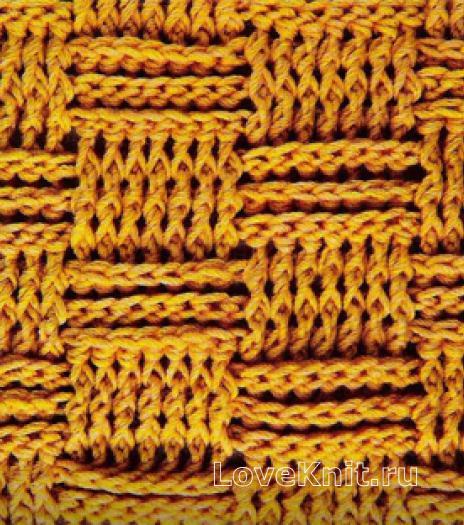 Фото рельефный узор №4081 спицами