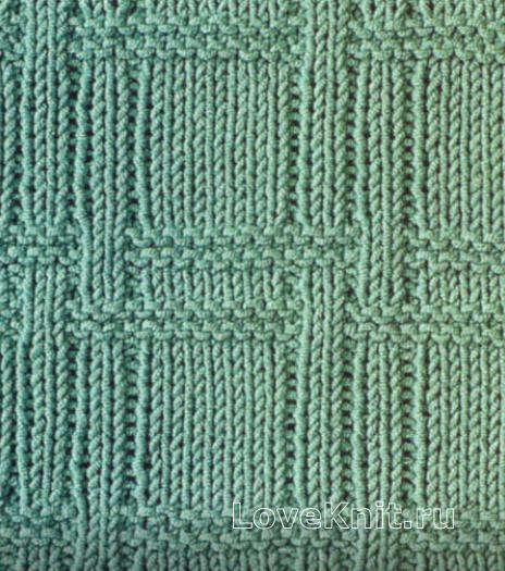 Фото рельефный плетеный узор №1 спицами