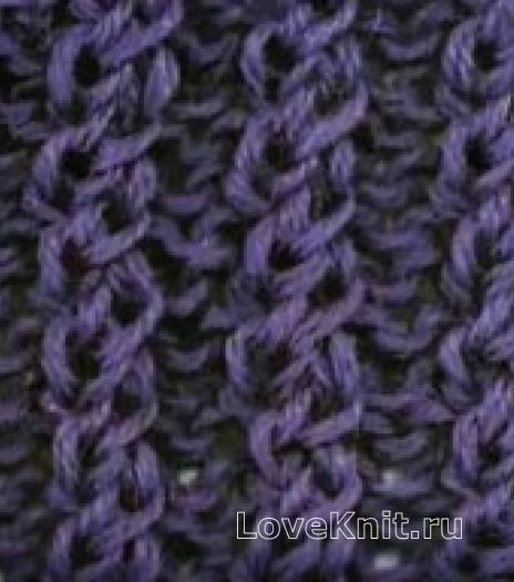 Фото рельефная резинка 2*2 спицами