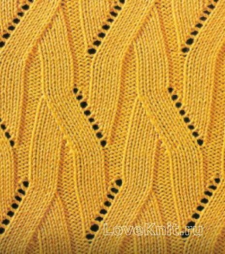 Фото узор ажурный №1627 спицами