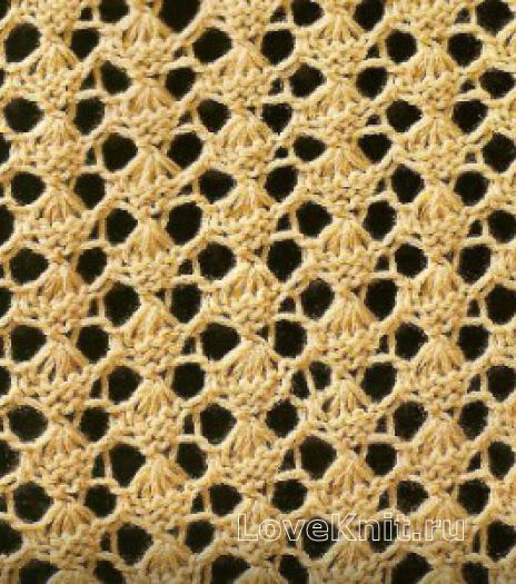 Фото узор ажурный №1633 спицами