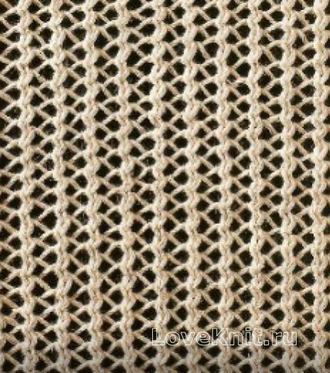 Фото узор ажурный №1636 спицами