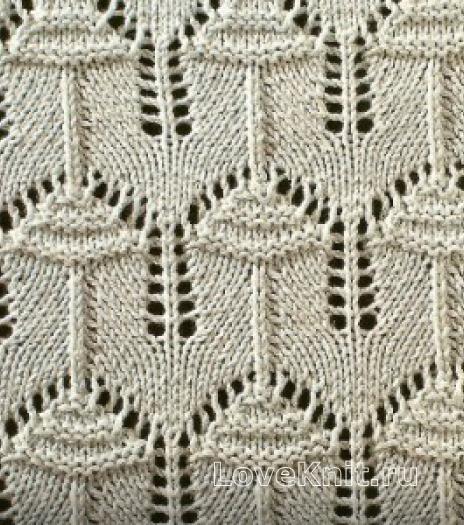 Фото узор ажурный №1642 спицами