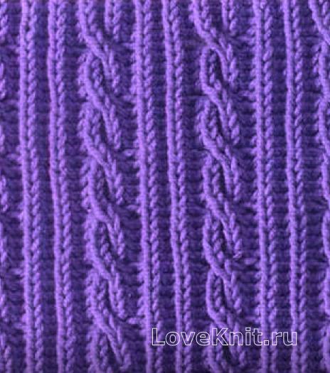 Фото узор косы и жгуты №3746 спицами