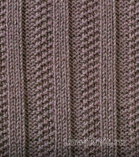 Фото узор рельефный №1665 спицами