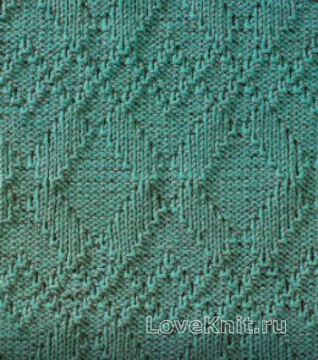 Фото узор рельефный №1667 спицами
