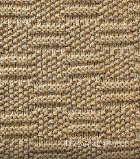 Фото узор рельефный №1682 спицами