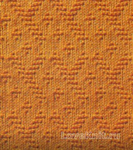 Фото узор рельефный №1685 спицами