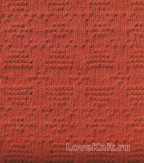 Фото узор рельефный №1687 спицами
