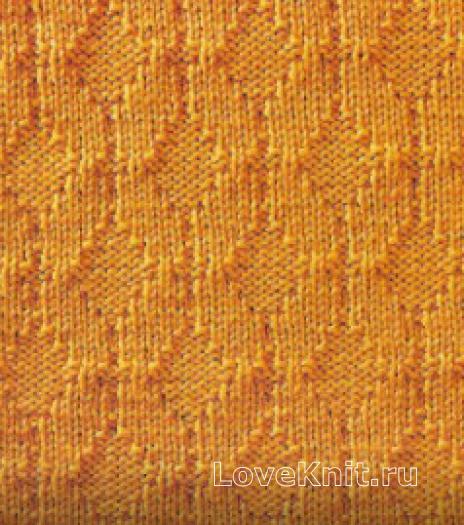 Фото узор рельефный №1692 спицами
