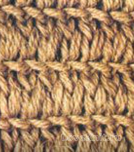 Фото узор рельефный №1344 спицами