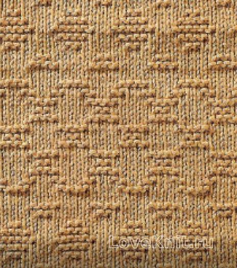 Фото узор рельефный №1676 спицами