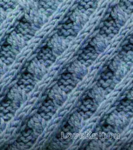 Фото рельефный узор №3758 спицами