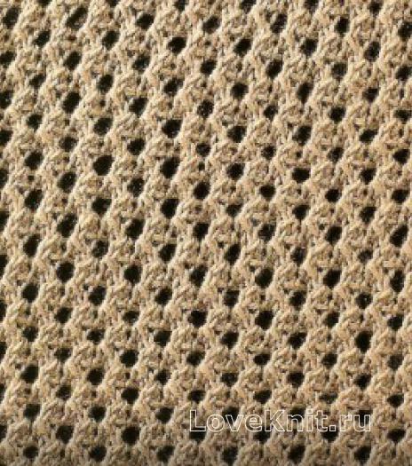 Фото узор ажурный №1629 спицами